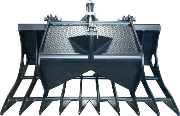 "Grapple Bucket with Single Gripper - 72"" wide"